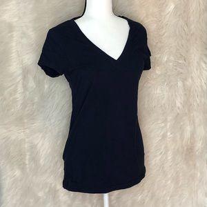 Wet Seal navy blue v neck short sleeve t-shirt